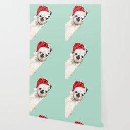 Christmas Sneaky Llama Wallpaper