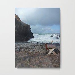 Seaside Solitude Metal Print
