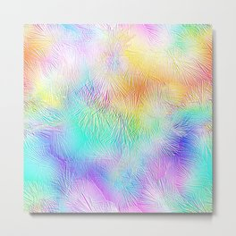 Blue Pastel Fireworks Metal Print