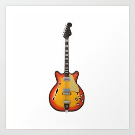 Hollow Body Guitar Art Print