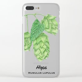 Beer Hops Botanical Painting Clear iPhone Case