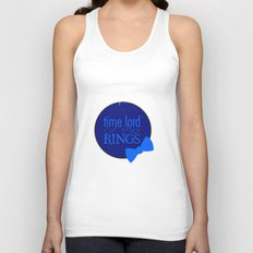 Time Lord of the Rings Unisex Tank Top
