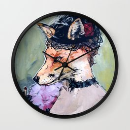 In the Hen House - Fox painted based on a piece by Konstantin Razumov Wall Clock