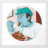 Sweet Potatoes Eater Art Print