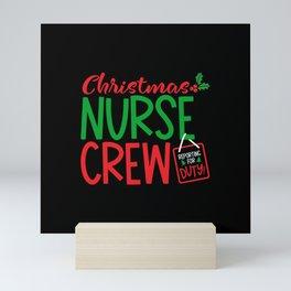 Christmas Nurse, nurse christmas crew Mini Art Print