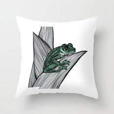 Croac Throw Pillow