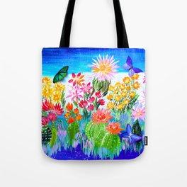 Succulent Garden with Butterflies Tote Bag