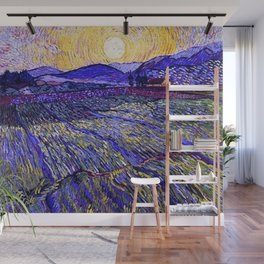 Lavender Fields with Rising Sun by Vincent van Gogh Wall Mural