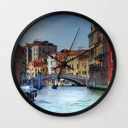 Venice Italy Canal Houses Wall Clock