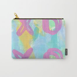 Everybody Is Somebody's Special love xoxo pop art typography Carry-All Pouch