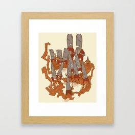 Musical saws Framed Art Print