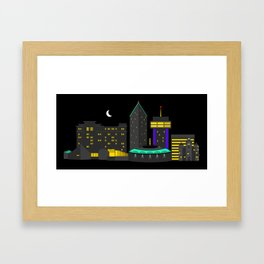 Wichita, Kansas Skyline Framed Art Print