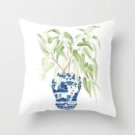 Ginger Jar + Eucalyptus Throw Pillow