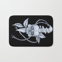 Headache (black background) Bath Mat