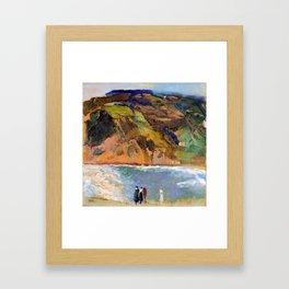 Joaquin Sorolla Shore of San Sebastian Framed Art Print