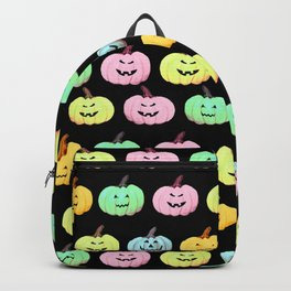 Neon Halloween Pumpkin, Jack O Lantern, Cute and Creepy Backpack
