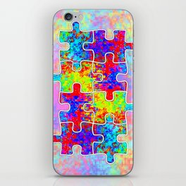 Autism Colorful Puzzle Pieces iPhone Skin