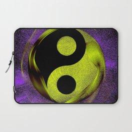 yin yang Ensō zen buddhism purple anise Laptop Sleeve