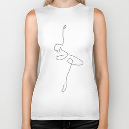 Abstract Ballerina Biker Tank