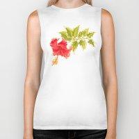 hibiscus Biker Tanks featuring Hibiscus by Eugeniam