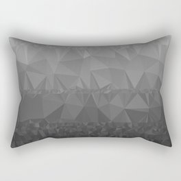 Black and Grey Ombre - Flipped Rectangular Pillow
