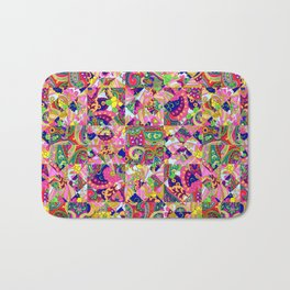 60's Crown of Thorns Quilt Bath Mat