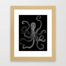 B&W Octo Framed Art Print