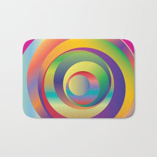 Circles - Optical Game 9 Bath Mat