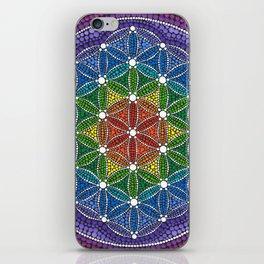 Rainbow Happy Flower of Life iPhone Skin
