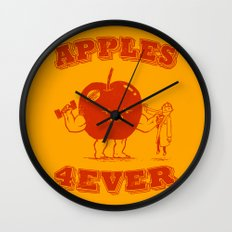 Apples 4EVER Wall Clock