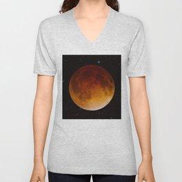 Lunar Eclipse Close Up Unisex V-Neck