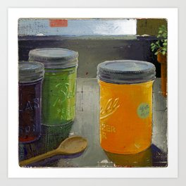 ball mason jars Art Print