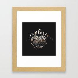 Explorer at heart Framed Art Print