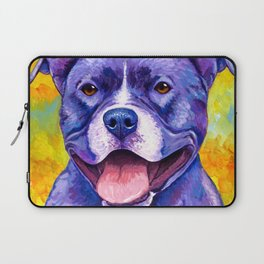 Colorful American Pitbull Terrier Dog Laptop Sleeve