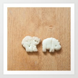 Animal Crackers - wood1 Art Print