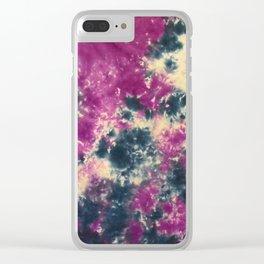 Blue Purple Scrunch Clear iPhone Case