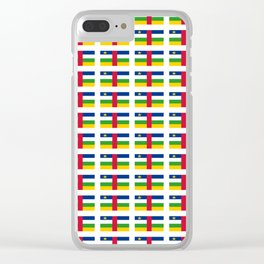 Flag of Central African Republic,car, Bêafrîka,centrafrique,Central African, centrafricain,Oubangui- Clear iPhone Case