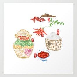 5 key elements of Sichuan cuisine Art Print