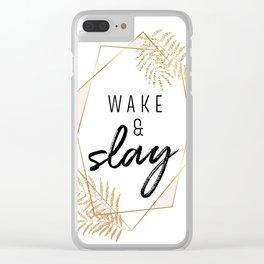 Wake & Slay Clear iPhone Case