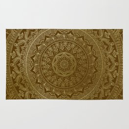 Mandala Royal - Cinnamon & Gold Rug