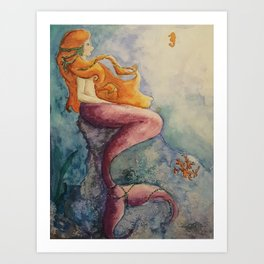 Serene Mermaid Art Print