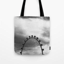 Back Side of the Link // London Eye Replica in Las Vegas Nevada City Strip Raw Landscape Tote Bag