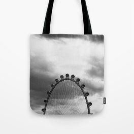 Back Side of the Link // London Eye Replica in Las Vegas Nevada City Strip Raw Landscape Tote Bag
