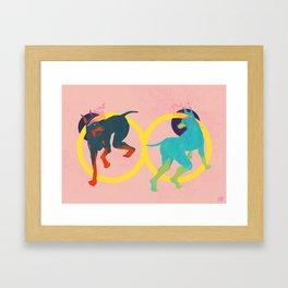 Lightheaded dogs Framed Art Print