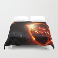 planet Duvet Covers featuring Galaxy : Red Dwarf Star by 2sweet4words Designs