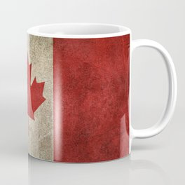 Old and Worn Distressed Vintage Flag of Canada Coffee Mug