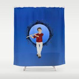 Flute Player Shower Curtain