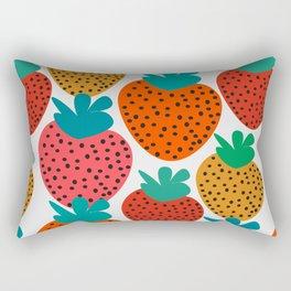 Funny strawberries Rectangular Pillow