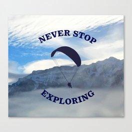 Swiss Alps // Never Stop Exploring Canvas Print