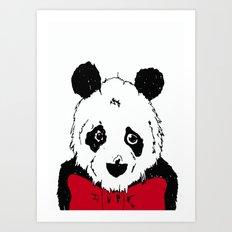 Lonely Panda Print Art Print